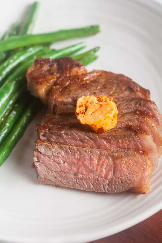Seared Steaks with Chipotle Compound Butter 7