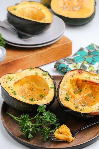 acorn squash on a plate