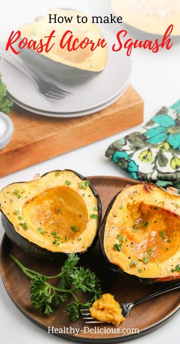 This roasted acorn squash recipe is creamy, tender, and versatile — perfect as an easy weeknight side dish. This post will show you how to roast acorn squash perfectly. Make it with brown sugar and maple syrup for a sweet option, or with olive oil and salt for a savory option. You can even make it paleo by using coconut sugar! via @HealthyDelish
