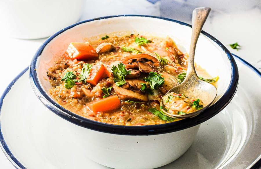 Creamy Mushroom + Quinoa Soup 2