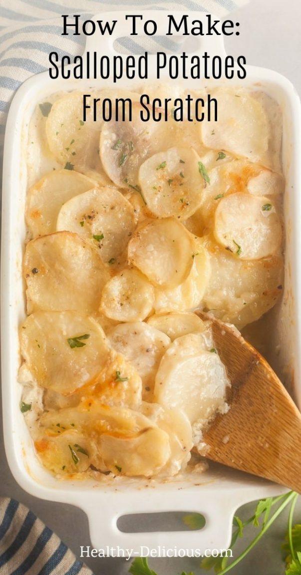 Cheesy Baked Scalloped Potatoes 1