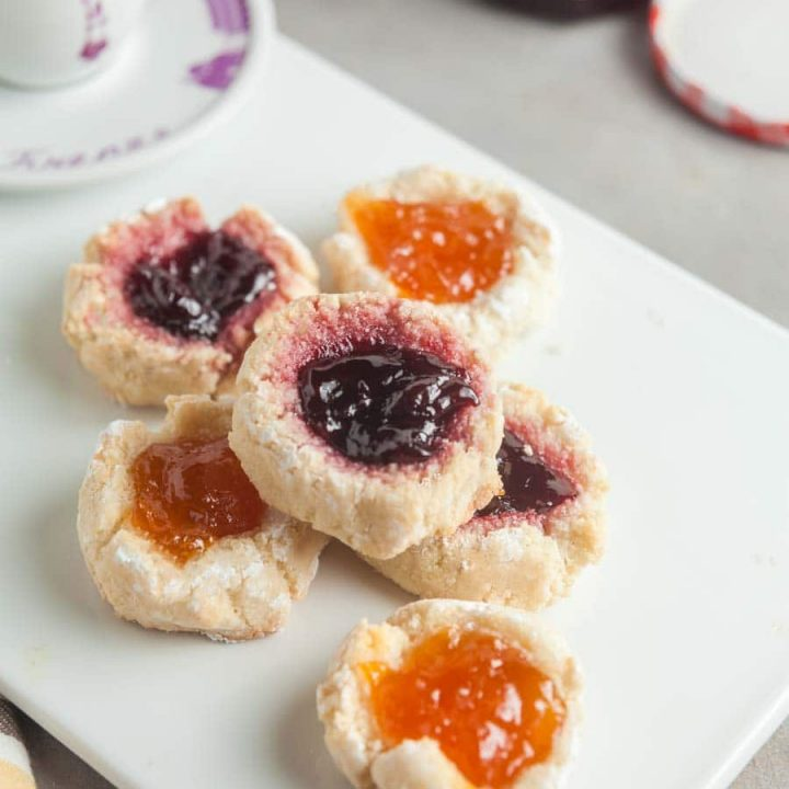 Small Batch Almond Thumbprint Cookies