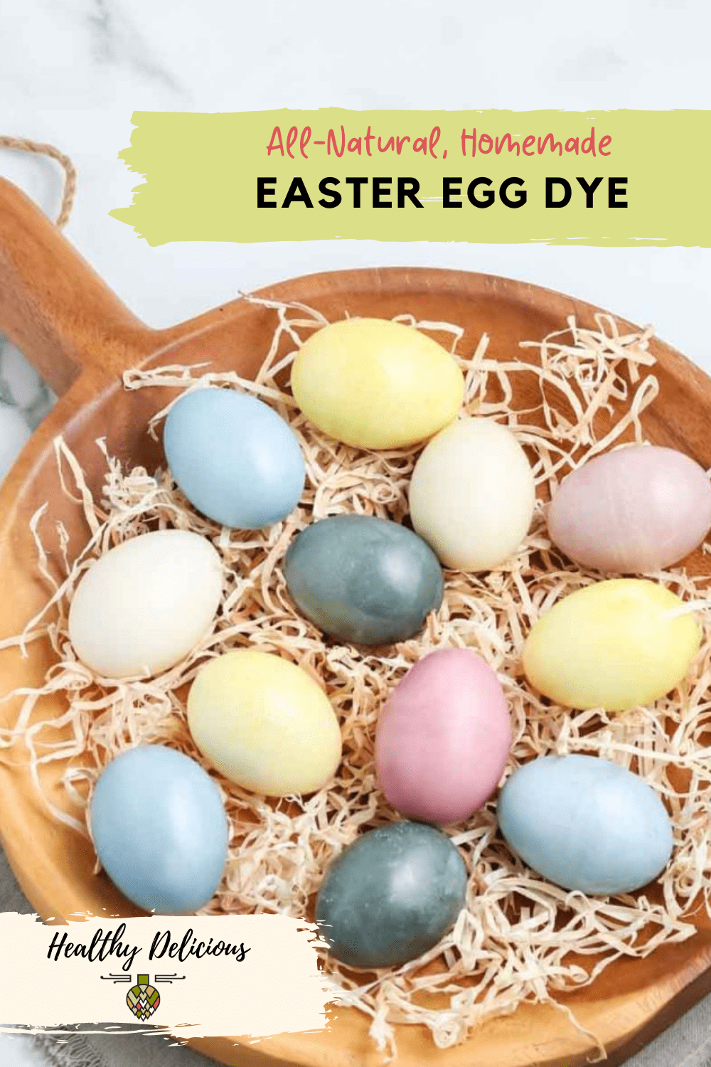 How to make bright natural Easter egg dye from kitchen scraps like beets, red cabbage, parsley, turmeric, and tea. These DIY Easter eggs are fun for the whole family! via @HealthyDelish