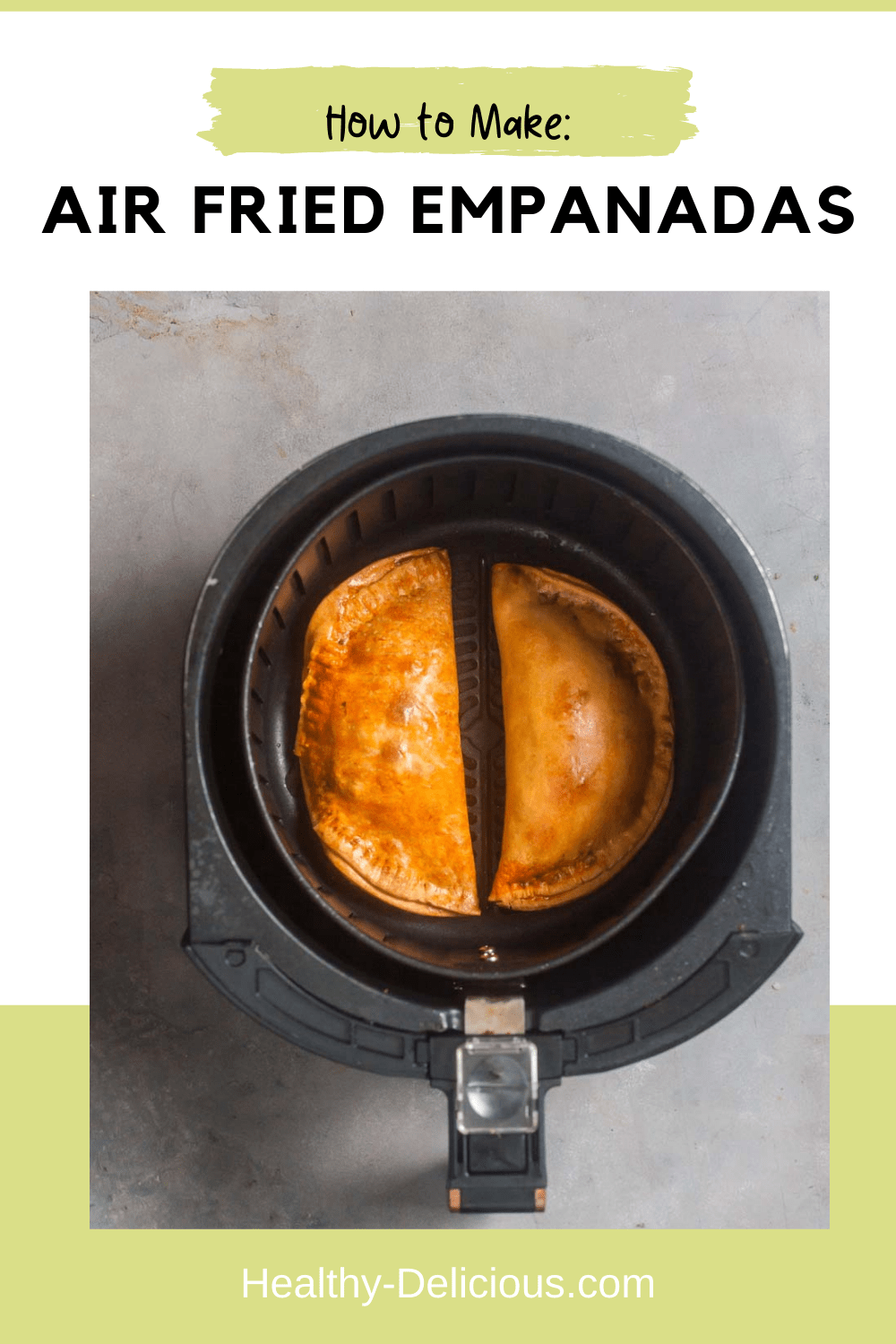 Crispy, crunchy air fryer empanadas are so easy to make at home without the mess or uncertain timing of deep-frying. These come out of the air fryer perfectly crisp and golden brown every time. Plus you can use any filling you want, which makes them great for picky eaters! Use leftover chili, chicken, or cheese! via @HealthyDelish