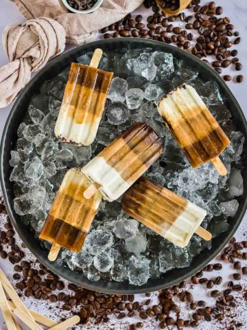 Low Carb Coffee Popsicles 2