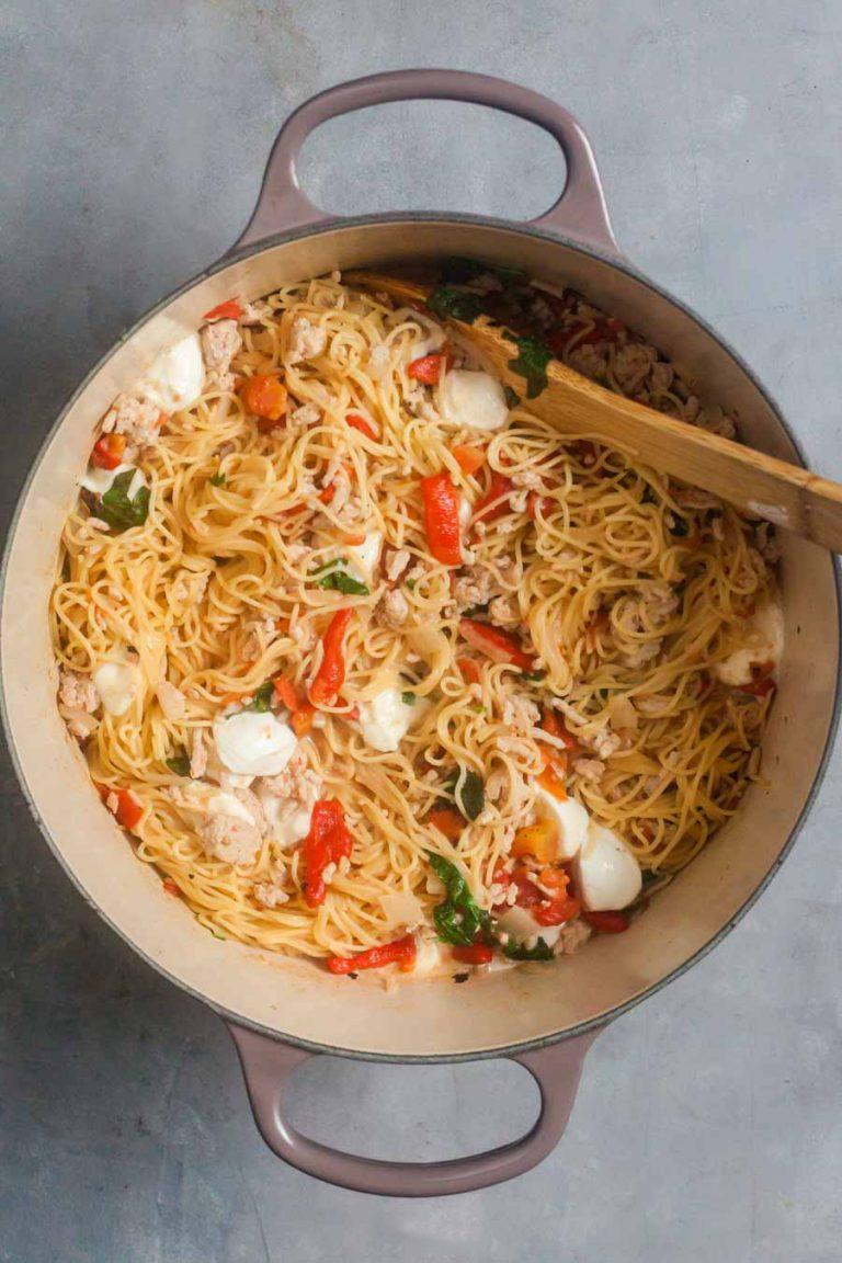 Chicken Caprese One Pot Pasta 7