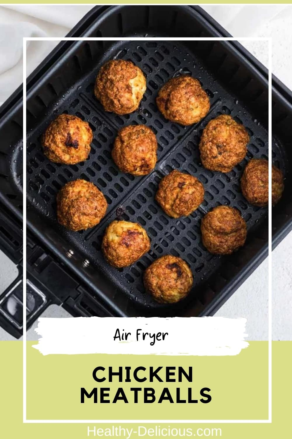 Air fryer chicken meatballs are an easy and versatile dinner that the whole family will love. They have a crisp, golden crust surrounding a juicy center and are ready in under a half-hour with minimal cleanup! Go ahead and make a double batch, because these delicious meatballs also freeze really well. These can be used as Italian-style meatballs with pasta and sauce, for Swedish meatballs, or even in meatball soup. via @HealthyDelish