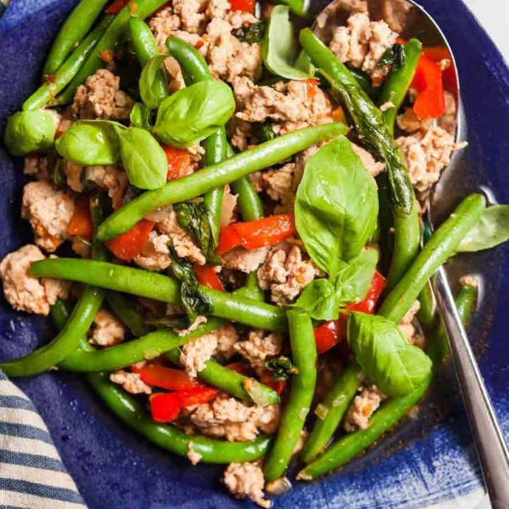 Instant Pot Basil Chicken with Green Beans