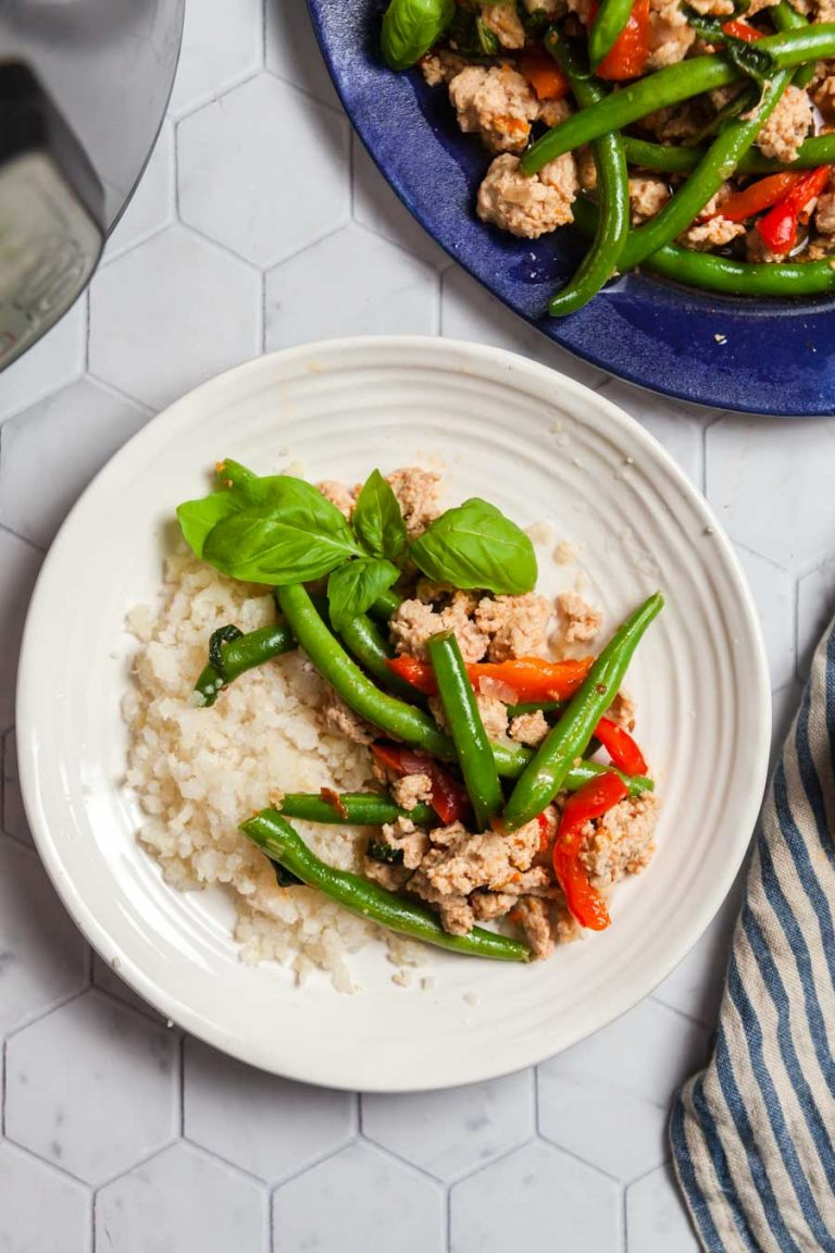 Instant Pot Basil Chicken with Green Beans 6