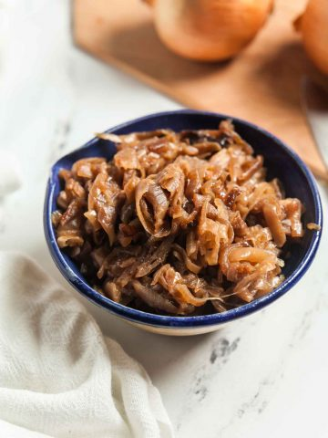Slow Cooker Caramelized Onions 4