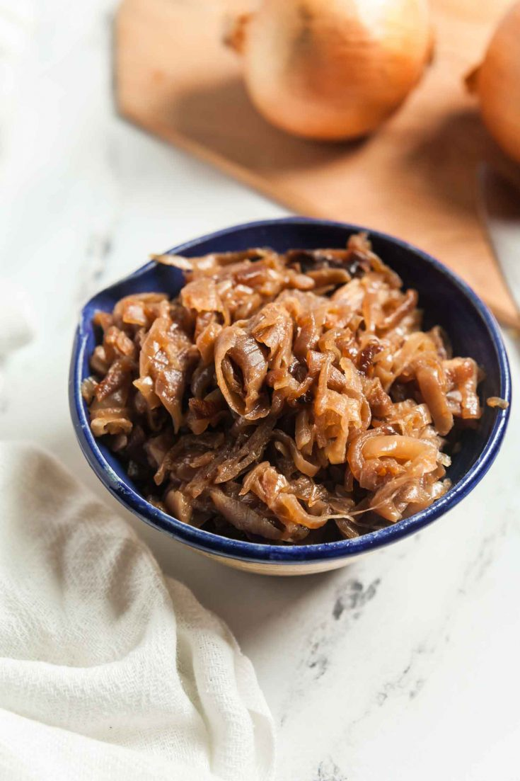 Slow Cooker Caramelized Onions 1