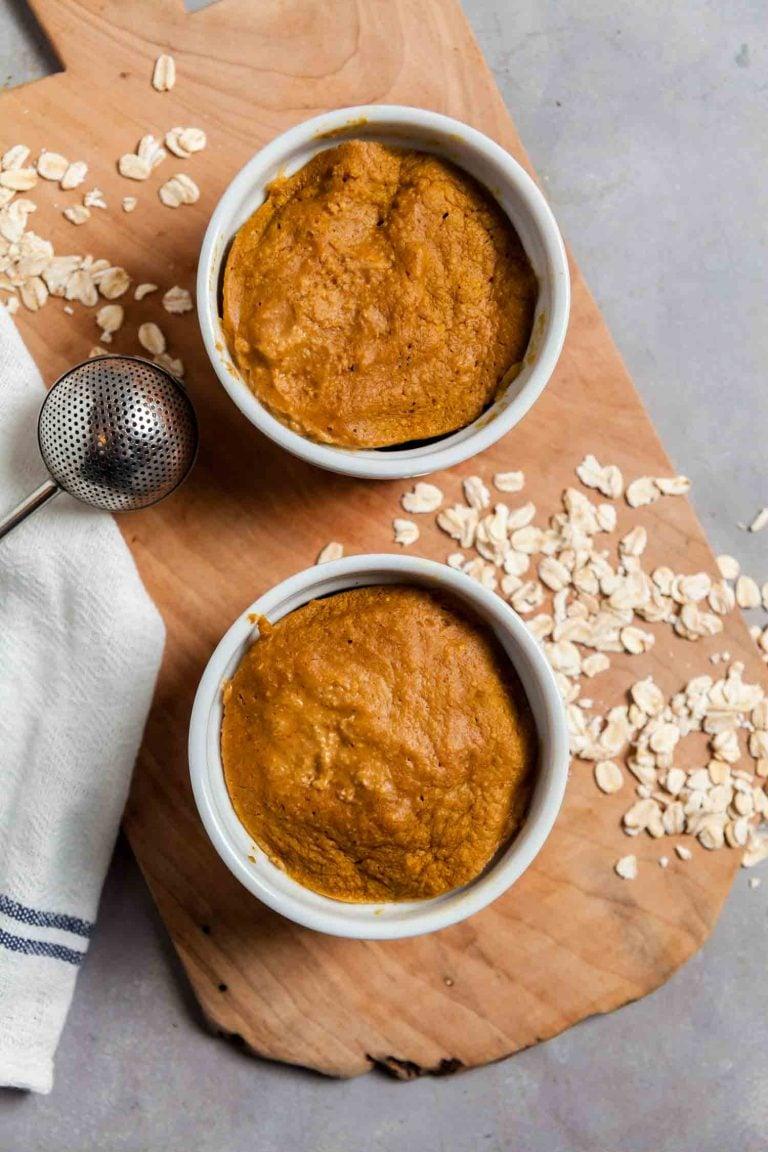 5-minute Pumpkin Spice Latte Baked Oatmeal 4