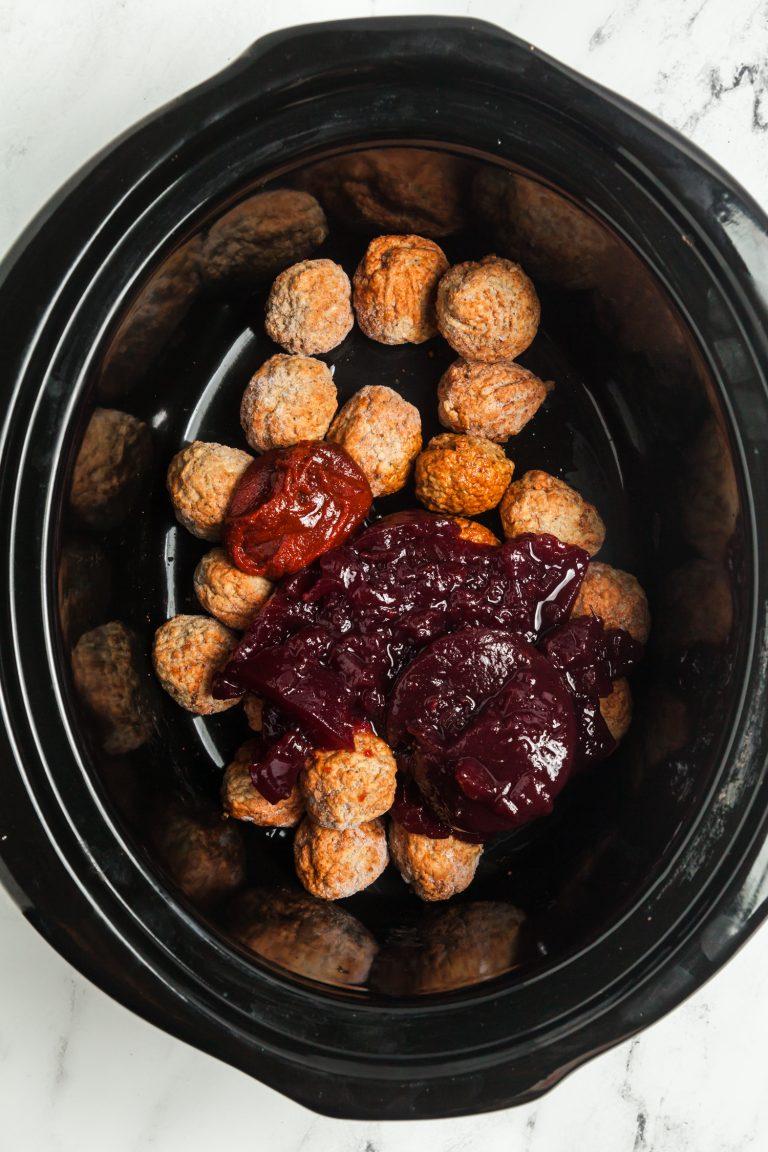 4 Ingredient Spicy Cranberry Meatballs (Slow Cooker Recipe) 3